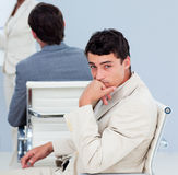 Close-up of a Bored businessman at a conference Stock Photos