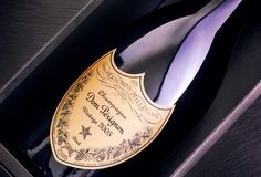 Close-up of Bottle of Champagne Dom Perignon Vintage 2005 in box. Tambov, Russian Federation - August 14, 2018 Close-up of Bottle of Champagne Dom Perignon royalty free stock photography