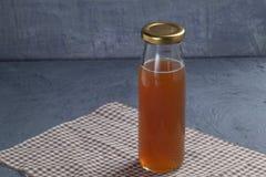 Bottle of date fruit juice. Close up bottle of date fruit juice stock images