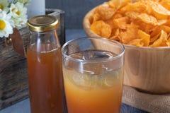 Bottle of date fruit juice. Close up bottle of date fruit juice royalty free stock photography
