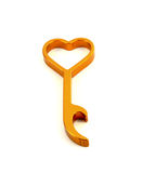 Close up of bottle opener, design in love. Close up of bottle opener and design in love Royalty Free Stock Photo