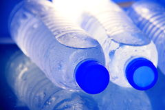 Close-up at bottled water Royalty Free Stock Photography