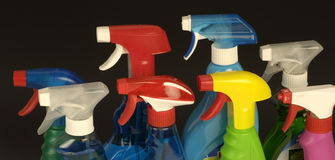 Bottles of detergent Royalty Free Stock Images