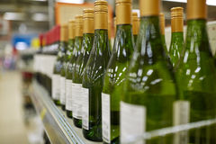 Close up of bottles at liquor store Royalty Free Stock Image