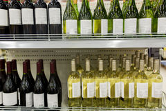 Close up of bottles at liquor store Royalty Free Stock Photo