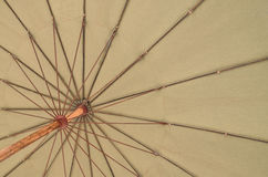 Close up bottom view of a beach umbrella. Huahin Thailand Stock Photo