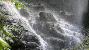 Close-up of bottom of a waterfall.Slow motion. stock footage