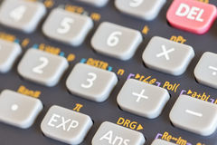 Close up botton on calculator Stock Photos