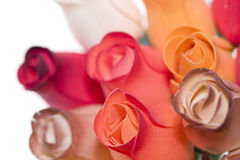 Close up on a bouquet. Of wooden roses Royalty Free Stock Photography