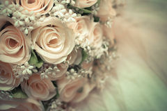 Close up A bouquet flower of rose. Close up A bouquet flower of rose in vintage tone and pastel color background Royalty Free Stock Photos
