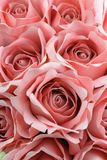 Close up bouquet of pink fabric roses. Stock Images