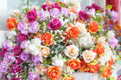 Close up bouquet of rose flowers Royalty Free Stock Images