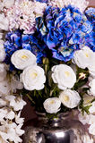 Close-up of a bouquet of roses and hydrangea Stock Image