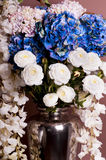 Close-up of a bouquet of roses and hydrangea. Royalty Free Stock Photography
