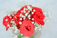 Close up on bouquet of roses Stock Photo