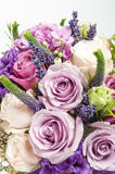 Close up bouquet with violet rose. Womens day bouquet Royalty Free Stock Photos