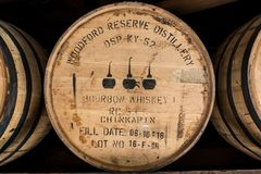 Close Up of Bourbon Barrel at Woodford Reserve Royalty Free Stock Photos