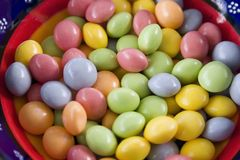 Close up on a Bowl of Candy Royalty Free Stock Images