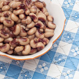 Close Up of Bowl of Canned Black Eyed Peas Royalty Free Stock Photo