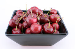 Close-up of a bowl of cherries Stock Image