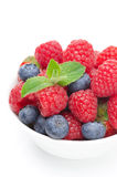 Close-up of bowl with fresh berries,  Royalty Free Stock Images