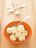 Indian rasgulla dessert Royalty Free Stock Photos