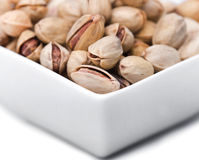 Close up of a bowl of pistachios Royalty Free Stock Images