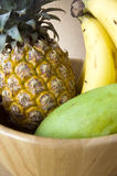 Close up bowl of tropical fruits Royalty Free Stock Images