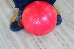 Close up bowling ball for play sport Royalty Free Stock Photo