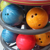 Close up bowling ball for play sport Royalty Free Stock Image