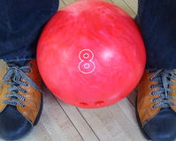 Close up bowling ball for play sport Stock Image