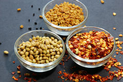 A close up of bowls of Indian spices Royalty Free Stock Photo