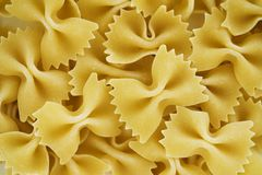 Close up of bowtie pasta royalty free stock photography