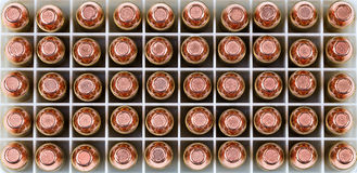 Close up of a box of new bullets in filled frame format Royalty Free Stock Photo