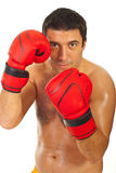 Close up of boxer man Royalty Free Stock Images