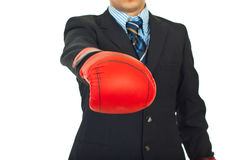 Close up of boxing gloves Royalty Free Stock Photos