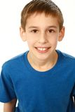 Close up of boy in blue shirt Royalty Free Stock Images