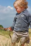 Close up of boy in dunes Stock Photography
