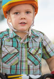 Close up of Boy in Helmet Royalty Free Stock Photos