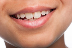 Close Up of Boy's Mouth. royalty free stock photos