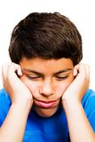 Close-Up Of Boy Thinking Royalty Free Stock Photo