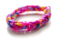Close up of bracelet made with rubber bands Stock Image