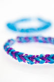 Close up of bracelets made with rubber bands. Royalty Free Stock Photography