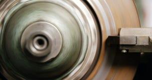 Close-up of brake caliper. In repair shop 4k stock video