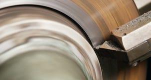 Close-up of brake caliper. In repair shop 4k stock footage