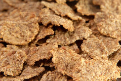 Close up of bran flakes. Selective focus Royalty Free Stock Photo