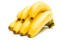 Close up of branch of bananas Stock Image