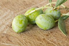 Close up of branch Olives Royalty Free Stock Photo