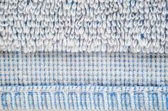 Close-up branco da textura de toalha Fotografia de Stock Royalty Free