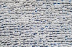 Close-up branco da textura de toalha Imagem de Stock